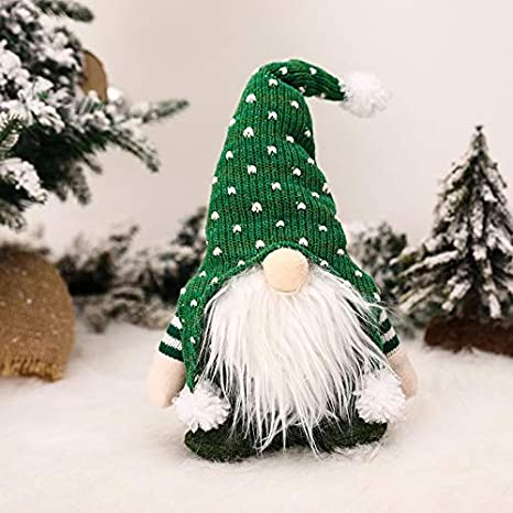New Christmas Tree pendant Wool Faceless Doll Decoration Party Hanging Pendant
