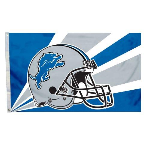 NFL Detroit Lions 3-by-5 Foot Helmet Flag ()