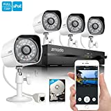 Zmodo 720P HD Home Security Camera System 4 x 720P Outdoor Night Vision...