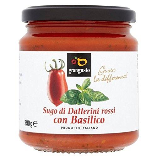 Grangusto Tomate Rojo Y Albahaca 290g De Salsa Para Pasta (Paquete de 2)