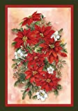 Toland Home Garden Poinsettia Spray 28 x 40 Inch Decorative Red Christmas Flower Winter Bouquet House Flag
