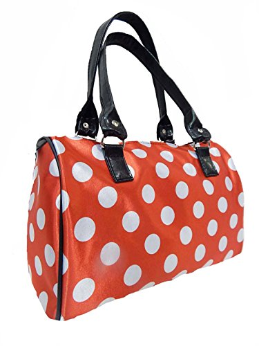 """Us Handmade Fashion Doctor Bag """"polka Dots"""" Pattern Satchel Styles Purse Red Color Drb 8501"""