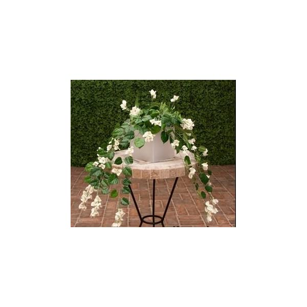 Windowbox 36in. Artificial Bougainvillea-White-fire Retardant