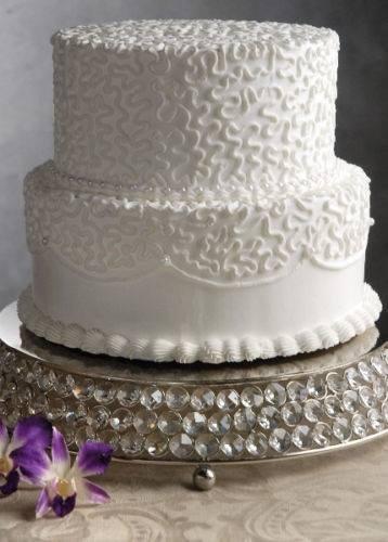 Crystal Beaded Glass Mirror Cake Stands Handmade Wedding Cake Display Cups Plates (14 Cake Plate)