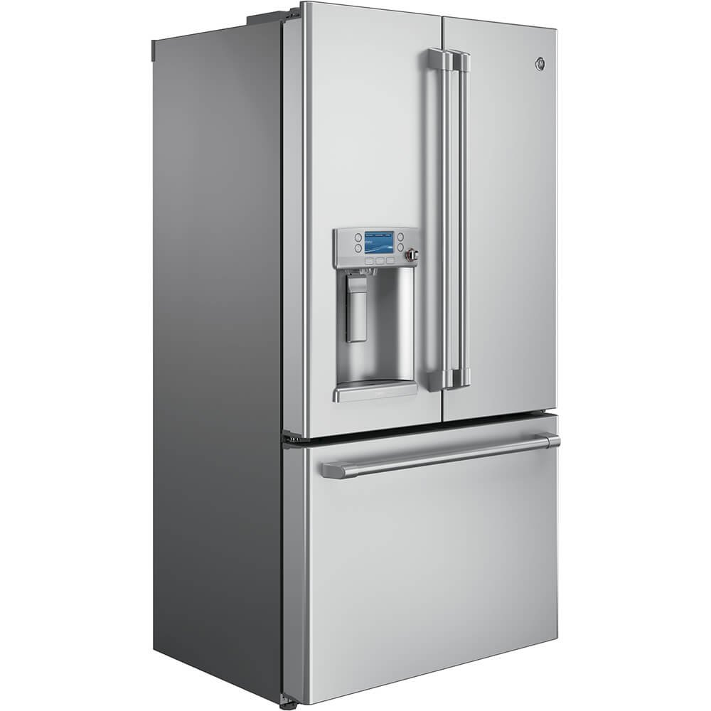Amazon.com: GE CYE22TSHSS Cafe 22.1 Cu. Ft. Stainless Steel Counter Depth  French Door Refrigerator - Energy Star: Appliances
