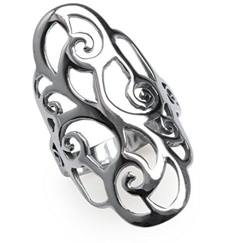 Sterling Silver Filigree Swirl Spiral
