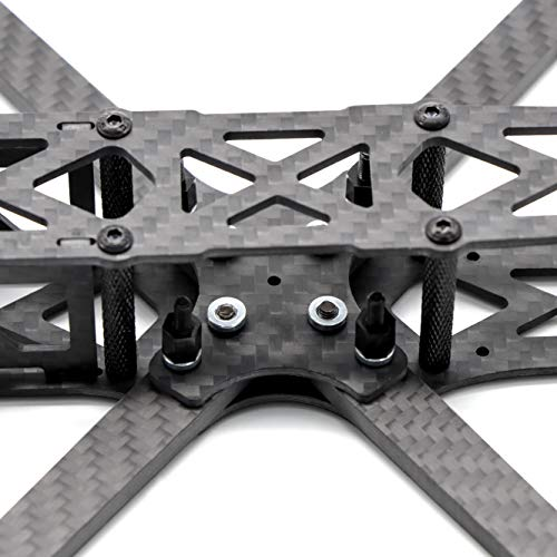 Readytosky 215mm FPV Racing Drone Frame 5 inch Carbon Fiber Quadcopter Frame Kit for Martian V with 5mm Arm+Lipo Battery Strap