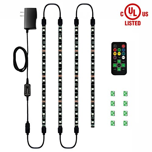 HitLights Eclipse LED Light Strip Accent Kit, 4 X Pre Cut 12 Inch RGB  Strips   Includes Remote, Power Supply, And Connectors For Under Cabinet  Lights ...