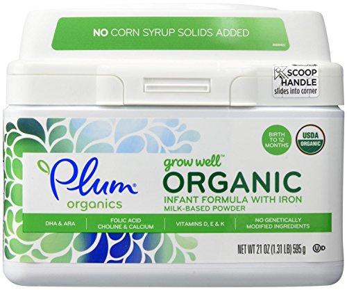 Plum Organics Grow Well Organic Infant Formula, 21 Ounce (Pack of 4)