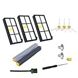 GHM 800&900 Series Replacement Parts for iRobot Roomba 860 880 805 860 980 960 Vacuums, accessories With 3 Pcs Hepa Filter, 3 Pcs 3-Armed Side Brush, 2 Set Tangle-Free Debris Rollers