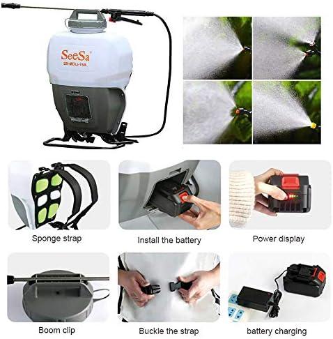 電気スプレー、バックパック噴霧器、圧力スプレー、家庭農業園芸スプレー、バックパック電動ポンプ、アクションスプレー、充電式コードレスバッテリ駆動、15Lスプレー