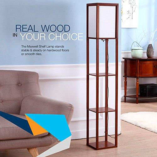 Brightech - Maxwell Shelf Floor Lamp - Modern Mood Lighting for ...