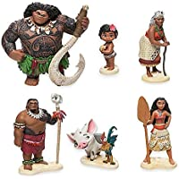 Movie Princess Moana Maui Pet Dog Cock Action Figure Model Toys Dolls Brinquedos Gift for Kids Children 6pcslot 6-12cm