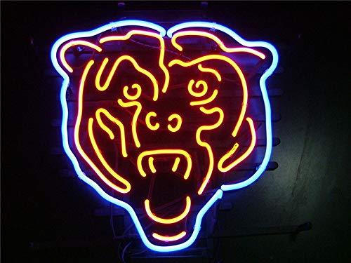 GreeneerG New Chicago Bears Beer Light Lamp Neon Sign