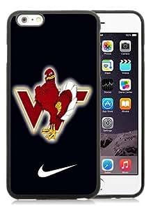 Hot Sale iPhone 6 Plus 5.5 Inch TPU Case ,Beautiful Unique Designed Case With virginia tech hokie 02 Black iPhone 6 Plus Cover