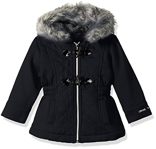 Limited Too Big Girls Too Diamond Quilt Toggle Fleece Jkt  Black  10 12