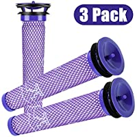 Dyson Filter Pre Filter Replacements - 3 pack Dyson Vacuum Filter Compatible with Dyson DC58 DC59 V6 V7 V8 Replacements Part # 965661-01 for Cordless / Motorhead / Animal / Absolute Dyson Filters