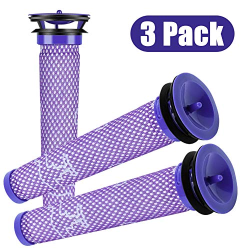 Dyson Filter Pre Filter Replacements - 3 pack Dyson Vacuum Filter Compatible with Dyson DC58 DC59 V6 V7 V8 Replacements Part # 965661-01 for Cordless / Motorhead / Animal / Absolute Dyson Filters by Senrokes