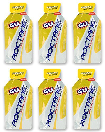 GU Roctane Ultra Endurance Energy Gel - Pineapple (6 x 1.1oz Packs)