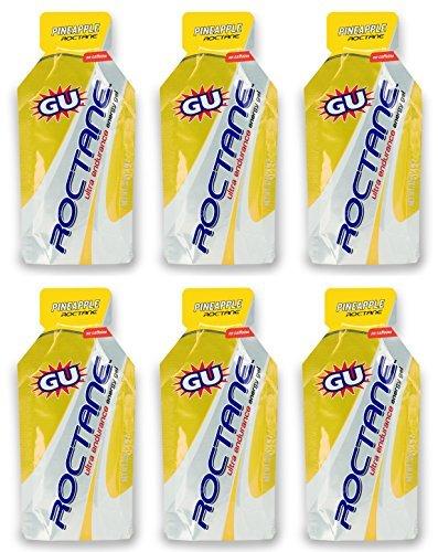 GU Roctane Ultra Endurance Energy Gel - Pineapple (6 x 1.1oz Packs)