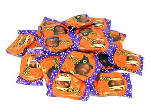 Reese's Snack Size Cup, Stuffed with Pieces Candy, Halloween Wrapping, 3Lbs -