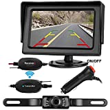 Wireless Backup Camera and Monitor Kit for Car/SUV/MPV/Van/Camper 9V-24V Rear View Camera System IP68 Waterproof Night Vision Reverse/Continuous Use Optional