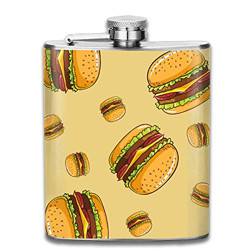 Liangrong Hui Hamburger Outdoor Portable Stainless Steel Flagon Hip Flask (Cheap Personalised Shot Glasses)