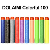 100 bullets 10 - Foam Refill Bullet Darts - DOLAIMI Colorful 100-Pack 7.2cm Darts for Kids Nerf Guns, Ten Color