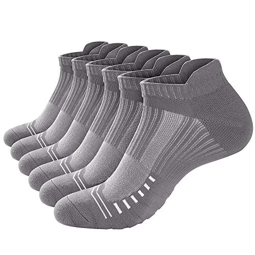 isnowood Low Cut Athletic Socks for Women & Men [6 Pairs] - Ideal Ankle Socks for Running, Hiking, Workout, Long Walks