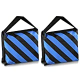 TOOGOO(R) Set of Two Black/Blue Heavy Duty Sand Bag Photography Studio Video Stage Film Sandbag for Light Stands Boom Arms Tripods