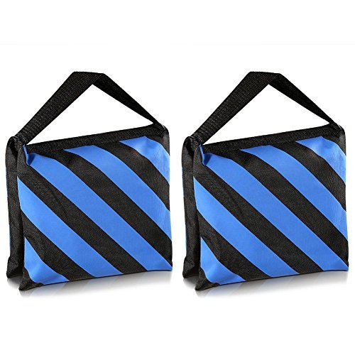 TOOGOO(R) Set of Two Black/Blue Heavy Duty Sand Bag Photography Studio Video Stage Film Sandbag for Light Stands Boom Arms Tripods by TOOGOO(R)