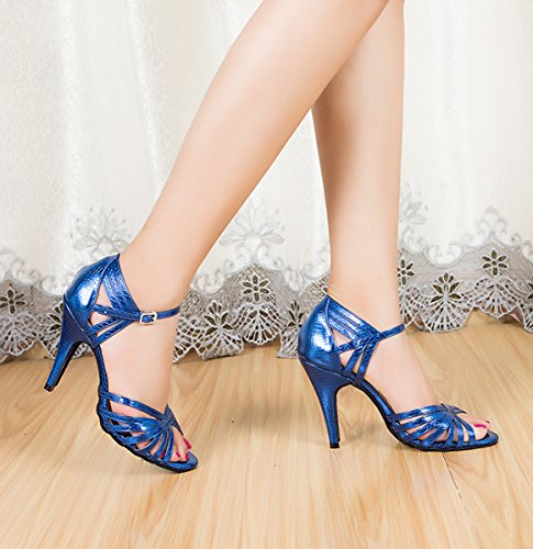 Latin Dancing Blue Tango Shoes Stiletto Formal Heel Royal 8 High Ladies Miyoopark Party Synthetic Heel 5cm Sandals Wedding WA6fxn