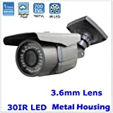 High-End 700TVL SONY CCD 30pcs Infrared Night Vision Surveillance Bullet CCTV Security Camera