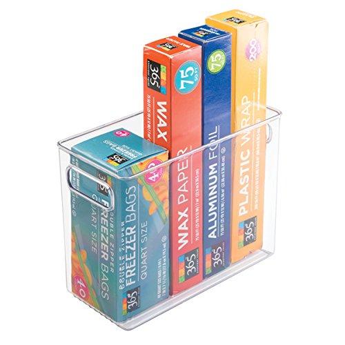 Kitchen Cabinet Storage Accessories (mDesign Kitchen Storage Organizer Bins for Refrigerator, Pantry, Cabinet - 10