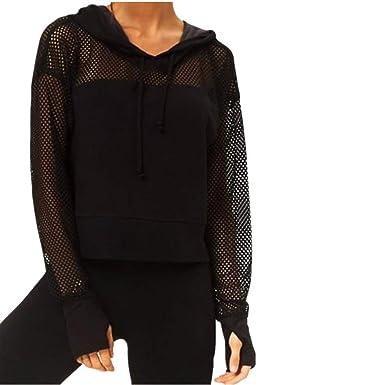 6364269d5ffbd3 ZIYOU Frauen Perspektive Pullover mit Kapuzen Schwarz