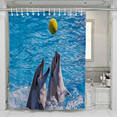 Our shower curtain is made from a safe and durable polyester fabric, High resolution pictures bring a 3D like realistic experience to your life.a healthy choice for any bathroom. Notice:Due to the unique handmade nature, slight dimension vari...