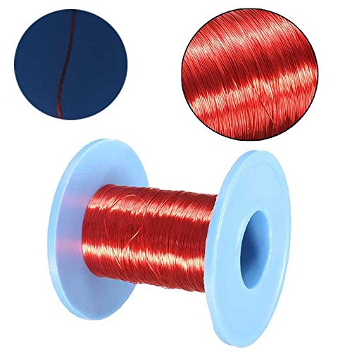 Red magnet wire wire center 100m magnet wire qa enameled copper wire magnetic coil winding red rh amazon co uk magnet wire gauge chart copper enameling keyboard keysfo Choice Image