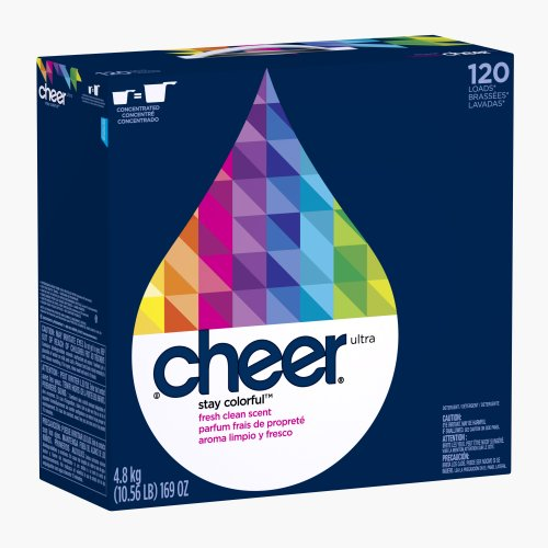 120 Load Box - Cheer Powder Detergent, brightClean, Fresh Clean Scent, Case Pack, 120-Load Boxes (Pack of 2)