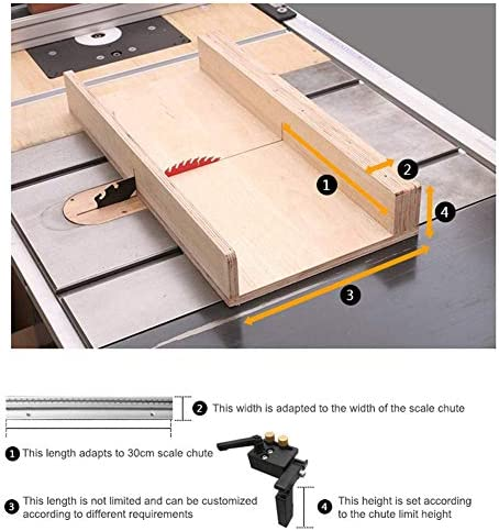 Wrench Tool Aluminum Alloy T-Track Woodworking Miter Track Stop for T-Slot Miter Track (Lenghen-Left)