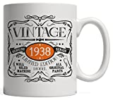 old 80s - Vintage Funny Born in 1938 Mug | 80 Birthday Gift Idea, All Original Parts Gag - Eighty Years Old Anniversary Day, Limited Edition, for Men and Women!