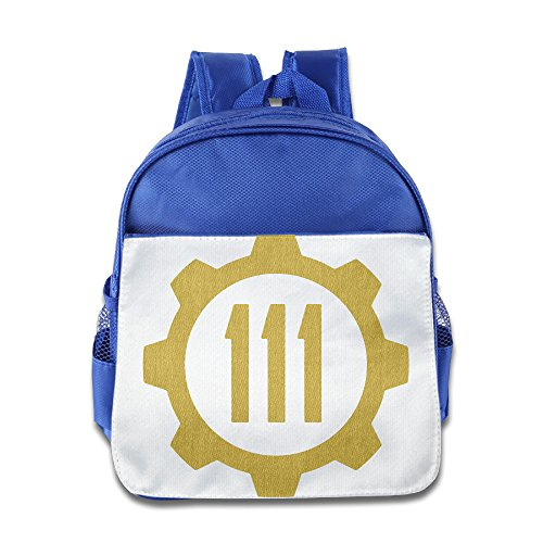 Custom Fall Vault Tec Out Boys And Girls School Bag For 1-6 Years Old RoyalBlue