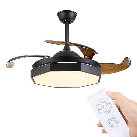 TSDS Lámpara de Techo con Mando a Distancia LED y 3 aspas ...