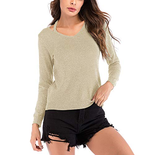 Causal Up V Longues Pin Manche Femme Pull Shirt Chic Col Slim T Tops Amples Mode Chemisier Sexy Kaki Automne Blouse wf7g8Yxzvq