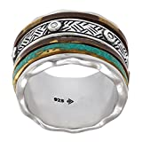 Silpada 'Isabella Spinner' Sterling Silver and Patina Brass Ring, Size 8