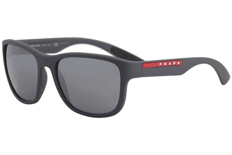e674b256153 Amazon.com  Prada Linea Rossa Men s 0PS 01US Rubber Black Dark Grey One  Size  Prada Sport  Clothing