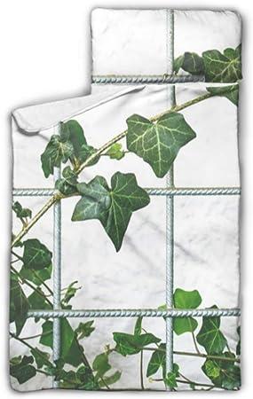 Planta trepadora Jardín Hiedra Naturaleza Planta Guardería Cuna Ropa de cama Colchoneta para acampar con manta y almohada Diseño enrollable Ideal para preescolares Guarderías para dormir 50