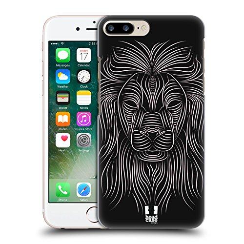 Head Case Designs Leone Animali Righe Cover Retro Rigida per Apple iPhone 7 Plus / 8 Plus