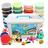 FlyFlag Eco-Friendly Modeling Clay, Air Dry Molding Magic Clay, Ultra Light, Non Toxic for Kids, Teens, Creative Art DIY Crafts, 24 Colors