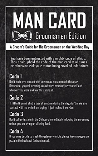 Groomsmen Gifts For Wedding - The Man Card - Groomsmen Edition 6-Pack by Wannabe Genius