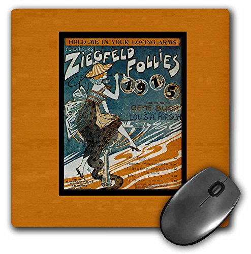 (3dRose BLN Vintage Song Sheet Covers Reproductions - Hold me In Your Loving Arms Ziegfeld Follies 1915 - MousePad (mp_170741_1))